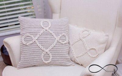 Infinity Crochet Pillow