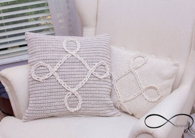 Infinity Crochet Pillow