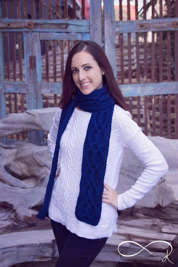 Infinity Crochet Winter Scarf
