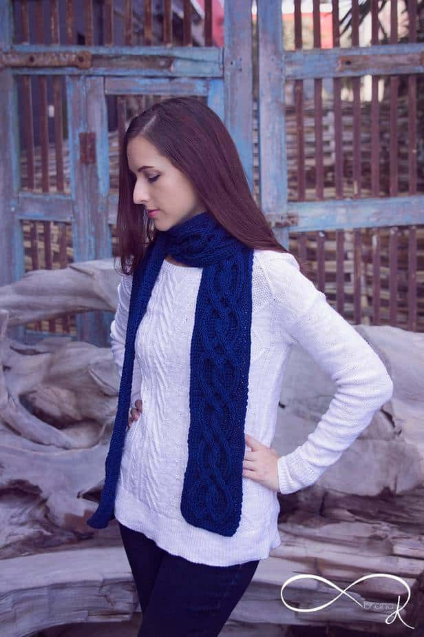 Infinity Crochet Winter Scarf