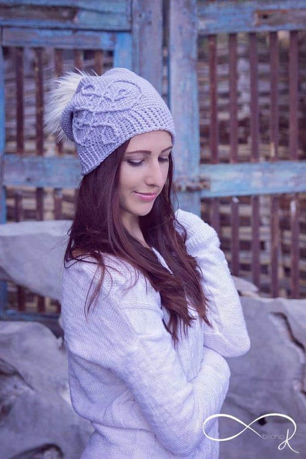 Infinity Crochet Frost Swirl Hat