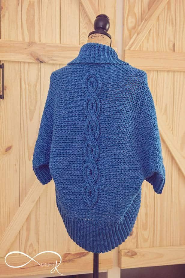 Infinity Zen Crochet Cable Cocoon