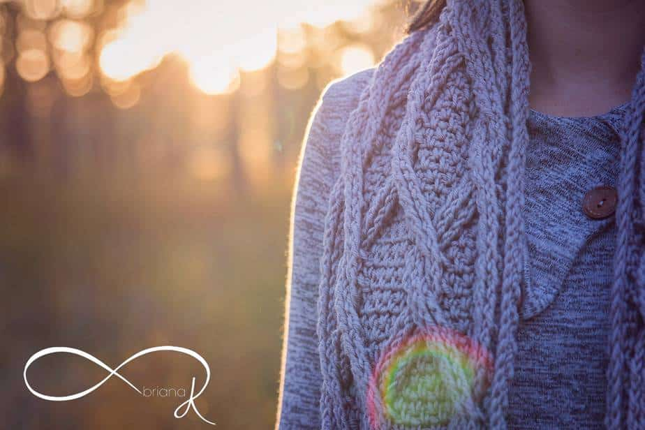 Infinity Crochet Chic Sheep Scarf
