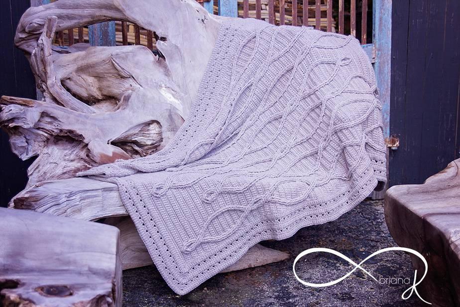 Infinity Crochet Upstream Blanket Afghan by Briana K Designs