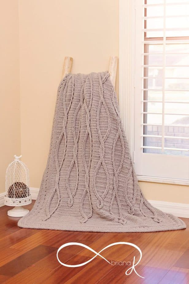 Infinity Crochet Upstream Blanket Afghan by Briana K Designs