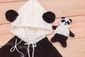 Panda Bear Poncho and Buddy