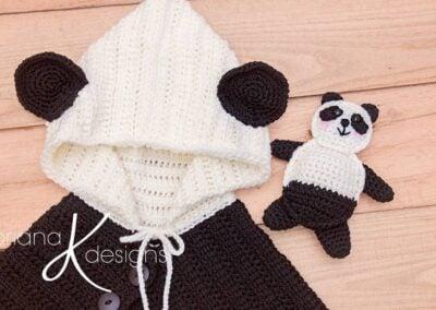 Panda Bear Poncho & Buddy