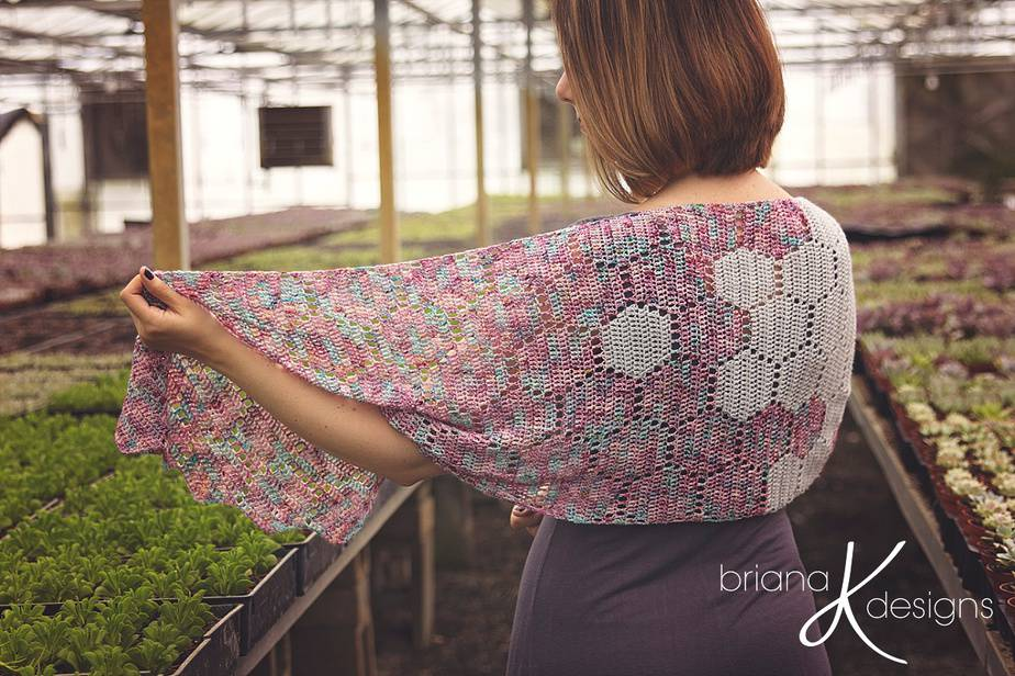Modern Honeycomb Shawl Crochet