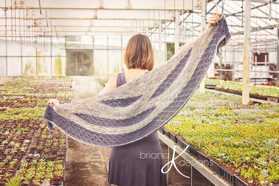 Modern Honeycomb Knit Shawl
