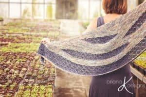 Modern Honeycomb Knit Shawl