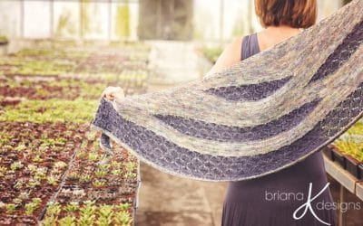 Modern Honeycomb Shawl Knit