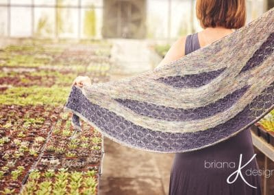 Modern Honeycomb Shawl Knit