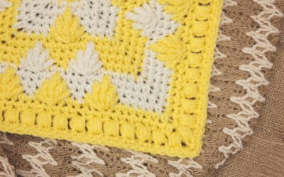Flower & Leaf Afghan Square