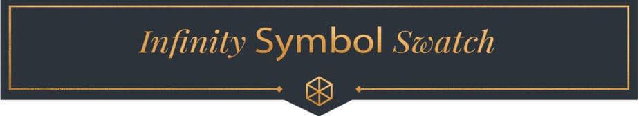 Infinity symbol swatch