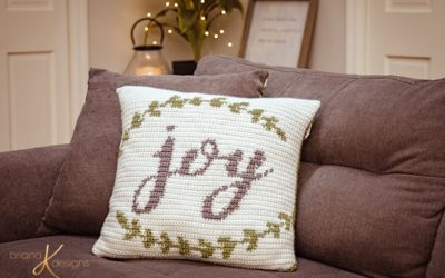 Joy Crochet Pillow Cover – Free Crochet Pattern
