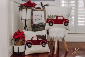 Farmhouse Truck Pillows by Briana K Designs