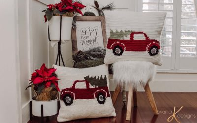 Farmhouse Truck Knit Pillow – Free Pattern