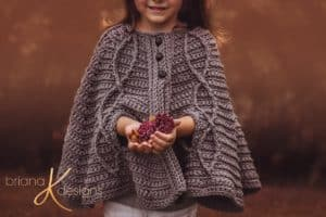 Children's Infinity Cape Jacket pattern by Briana K Designs