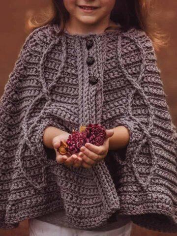 children's infinity cape jacket crochet pattern
