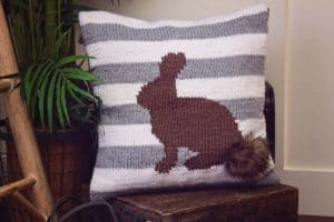 Fluffy Bunny Pillow Cover by Briana K Designs Free Knit Pattern