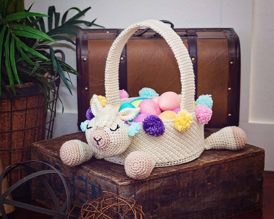Llama Easter Basket by Briana K Designs