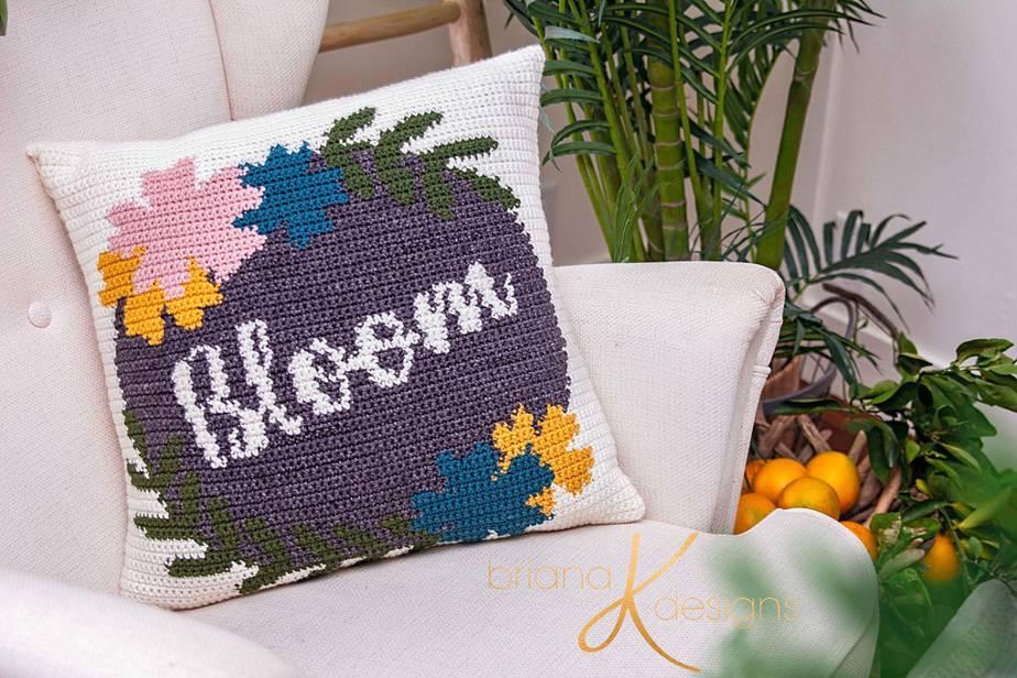 Bloom Crochet Pillow Cover Pattern