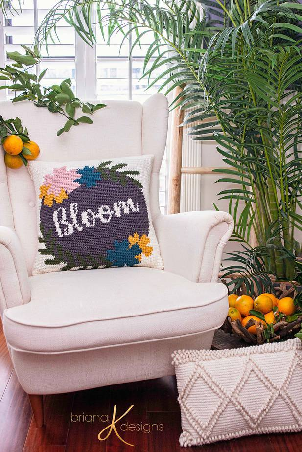Bloom Crochet Pillow Cover Pattern