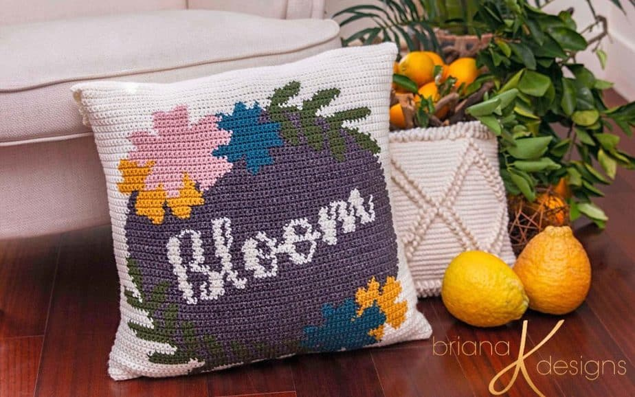Bloom Crochet Pillow Cover – Free Pattern