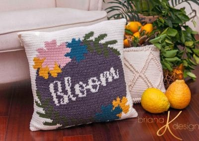 Bloom Pillow Cover Crochet