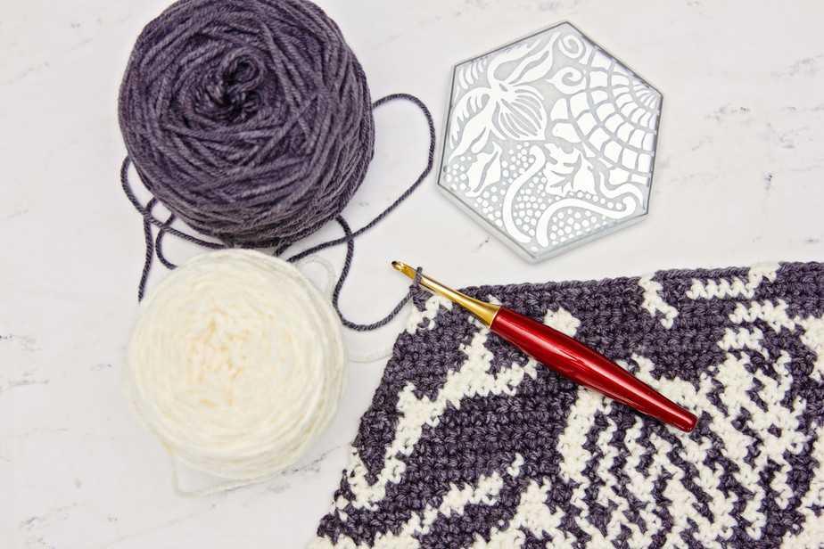 Gaudi Sidewalk Blanket Crochet Pattern by Briana K Designs