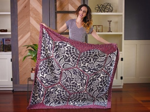 Gaudi Sidewalk Crochet Blanket