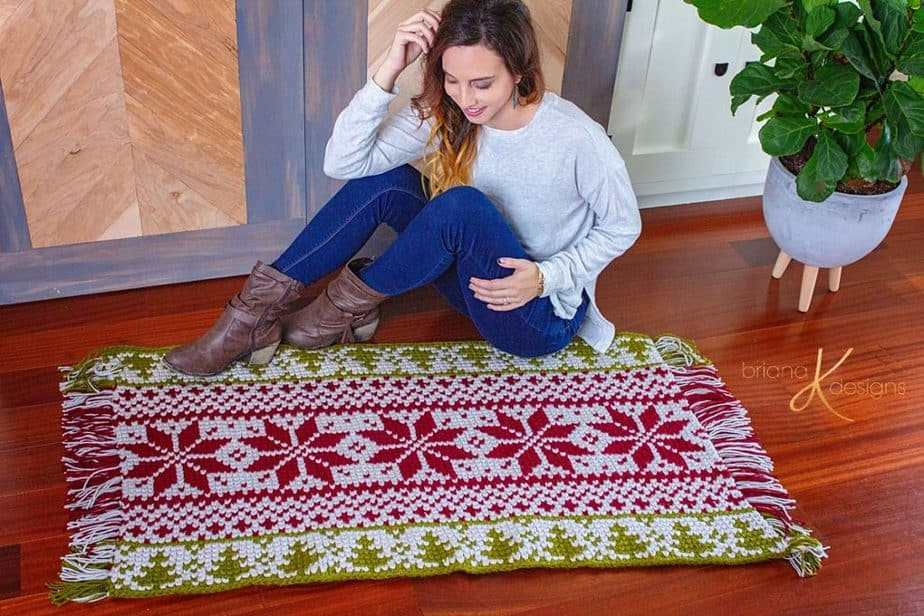 Holiday Rug by Briana K Designs