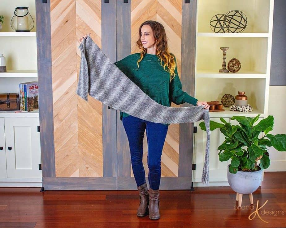 Boho Macrame Knit Wrap by Briana K Designs