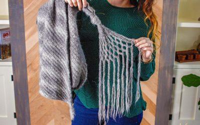 Boho Macrame Knit Wrap