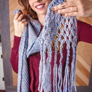 Boho crochet macrame wrap shawl pattern
