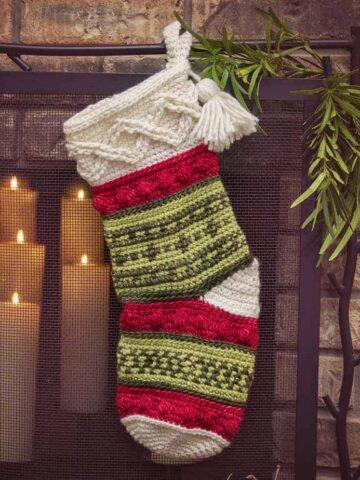 Infinity Noel Christmas Stocking