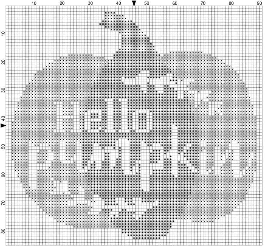 pumpkin cross stitch symbols