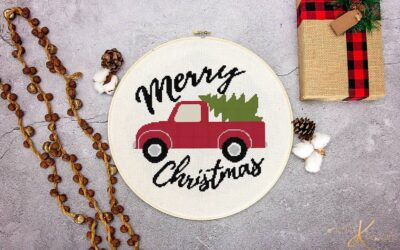 Farmhouse Truck Cross Stitch