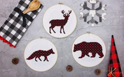 Plaid Rustic Animal Cross Stitch