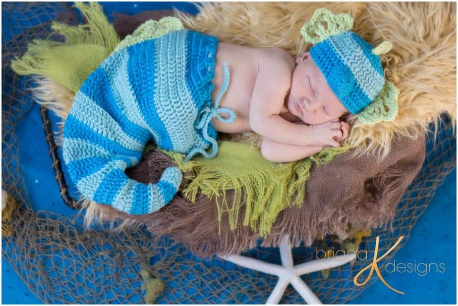Seahorse Crochet Baby Newborn Pattern by Briana K Designs