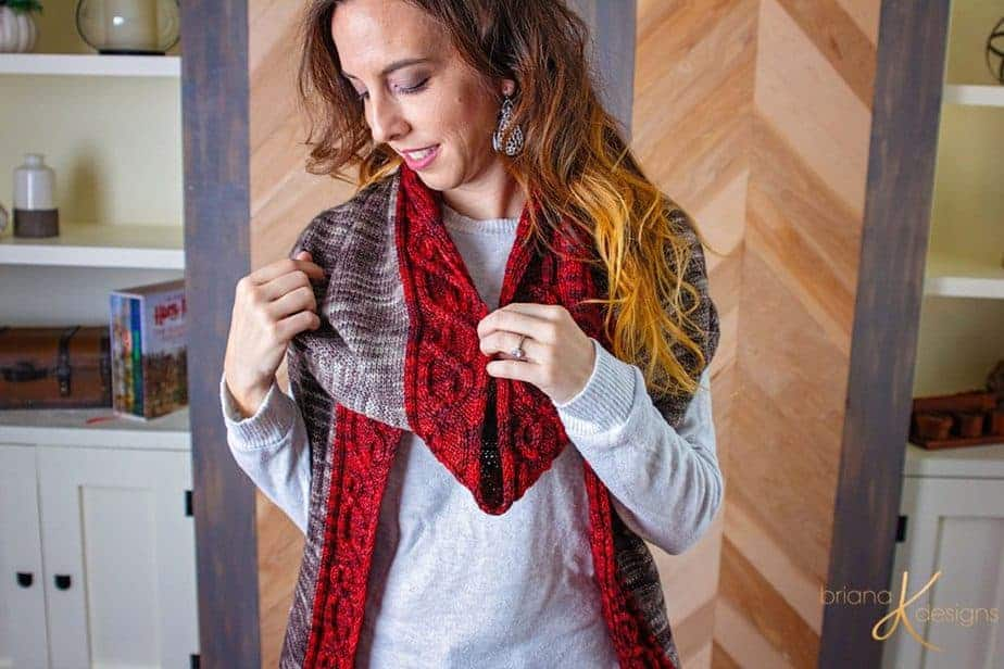 The Traveling Vine Knit Shawl by Briana K Designs