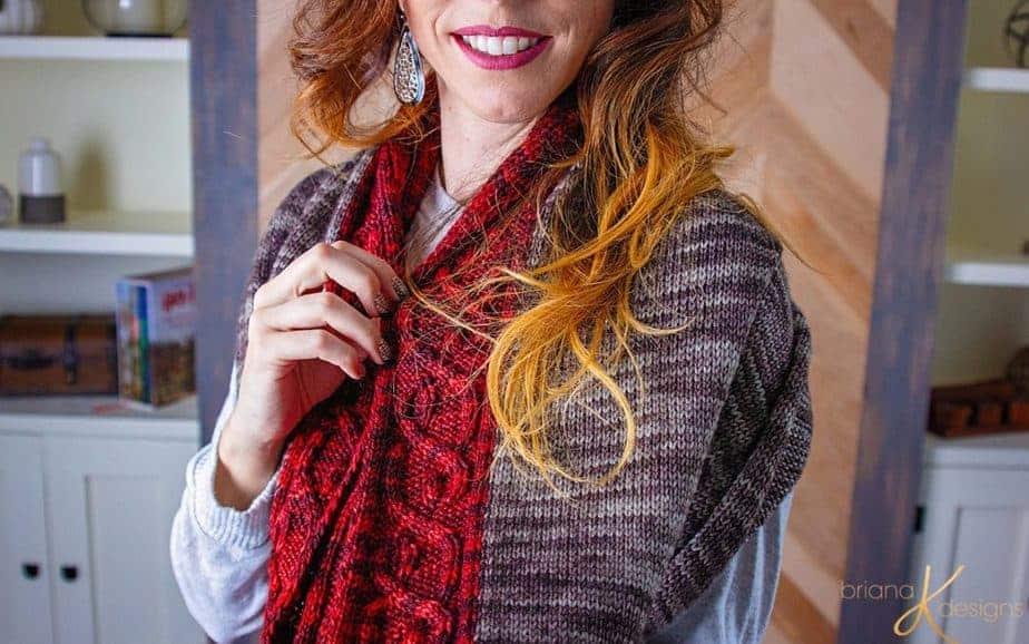 The Traveling Vine Knit Shawl