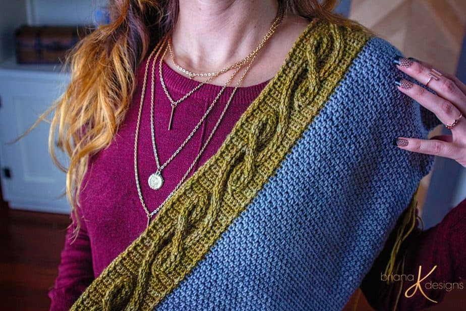The Traveling Vine Crochet Shawl by Briana K Designs