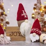 Gnome Crochet Gift Balm Ornament Holder