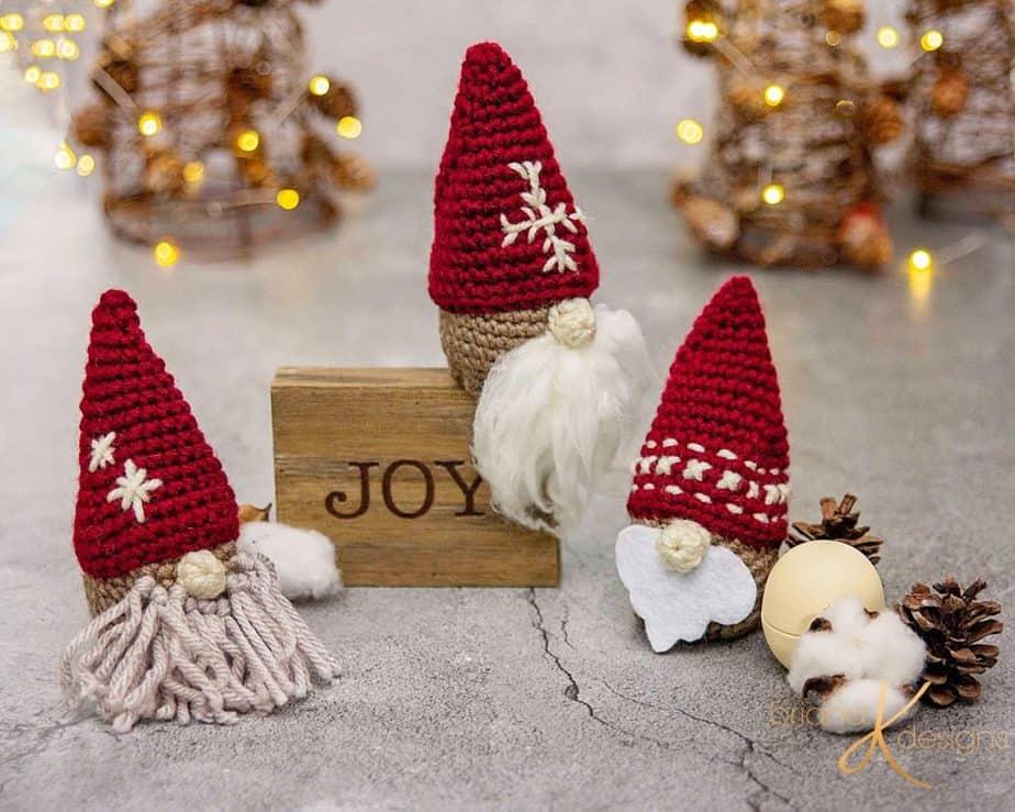 Gnome Crochet Gift Balm Ornament Holder