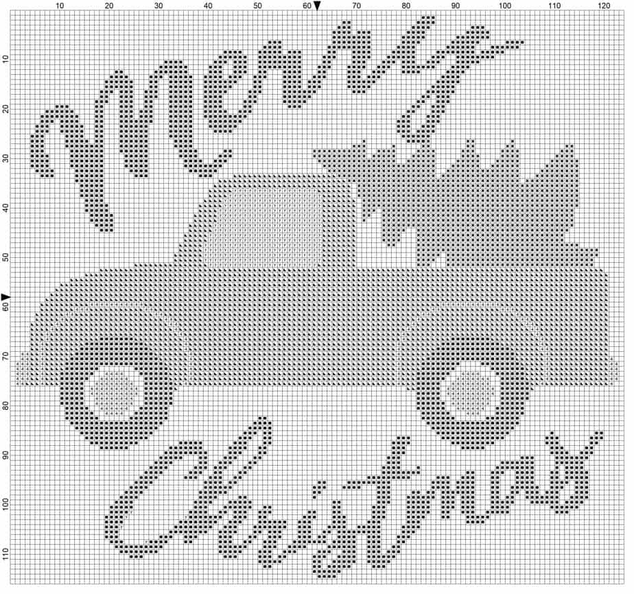 Christmas Truck Merry Christmas Cross Stitch Symbols by Briana K Designs