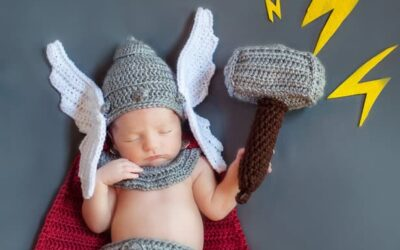 Newborn God of Thunder Crochet Outfit Pattern