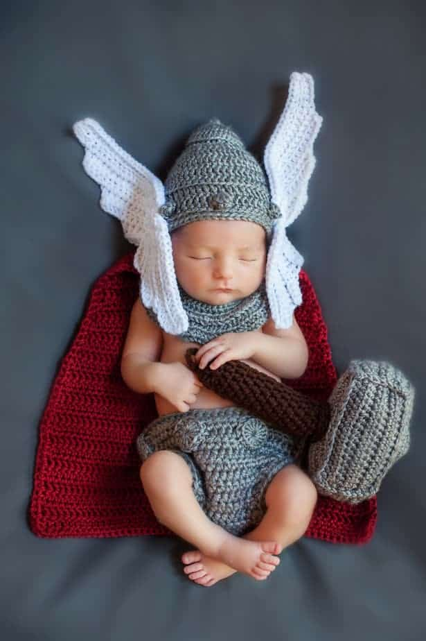 Newborn Thor God Of Thunder Crochet Pattern by Briana K Designs