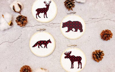 Plaid Rustic Ornaments Cross Stitch