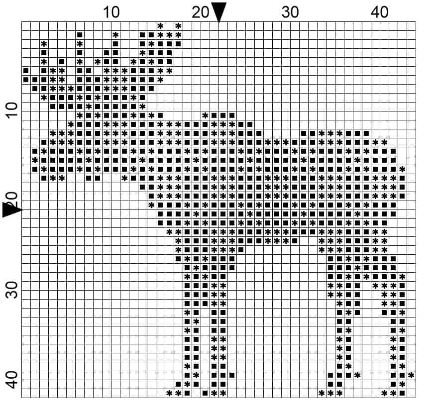 Small Moose Symbol Cross Stitch by Briana K Designs
